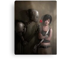 Robot In Love Metal Print