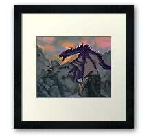 Skyrim Warrior  Framed Print
