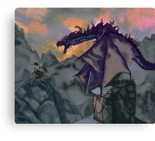 Skyrim Warrior  Canvas Print