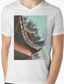 ORIENTAL STANDING Mens V-Neck T-Shirt