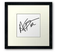 DRAKE signature Framed Print