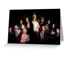 Buffy - Characters Greeting Card