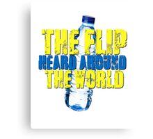 Water Bottle Flip The Flip Heard Around The World Talent Show Vintage Distressed Graphic Canvas Print
