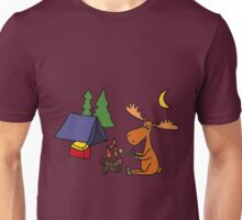 Cool Funky Moose Camping Unisex T-Shirt