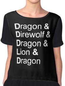 dragon&direwolf&dragon&lion&dragon Chiffon Top