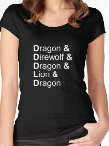 dragon&direwolf&dragon&lion&dragon Women's Fitted Scoop T-Shirt