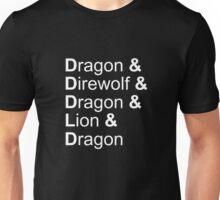dragon&direwolf&dragon&lion&dragon Unisex T-Shirt