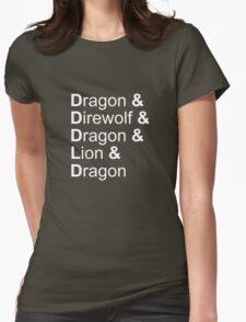 dragon&direwolf&dragon&lion&dragon Womens Fitted T-Shirt