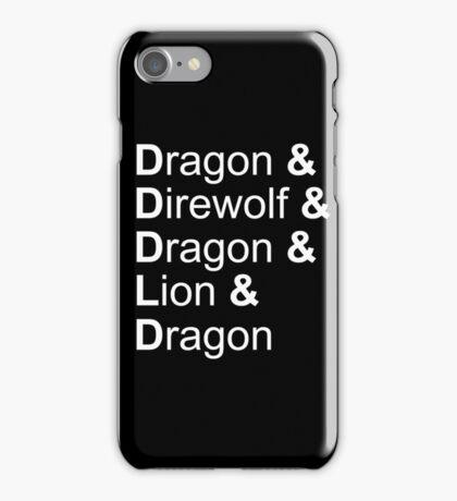 dragon&direwolf&dragon&lion&dragon iPhone Case/Skin