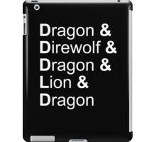 dragon&direwolf&dragon&lion&dragon iPad Case/Skin