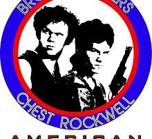 Brock and Chest, American Badasses by pakaku