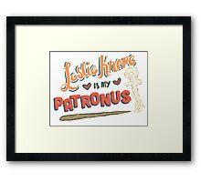 Leslie Knope Is My Patronus Framed Print