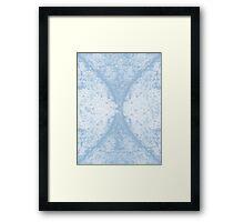 Step Crack Meeting Design (Airy Blue Color) Framed Print