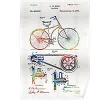 Colorful Bike Art - Vintage Patent - By Sharon Cummings Poster