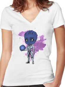 Liara Chibi Women's Fitted V-Neck T-Shirt