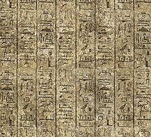 Egyptian Hieroglyphics by Packrat