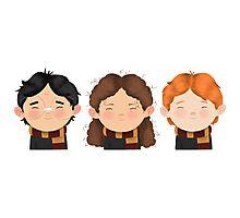 Harry Potter Trio: Harry, Hermione & Ron Photographic Print