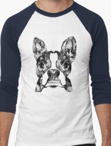 Boston Terrier Dog Black And White Art - Sharon Cummings Men's Baseball ¾ T-Shirt
