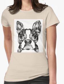 Boston Terrier Dog Black And White Art - Sharon Cummings Womens Fitted T-Shirt