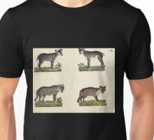 Naturgeschichte in Bildern mit erläuterndem Text E Strack 1820 Lief 1 Mammals 008 Unisex T-Shirt