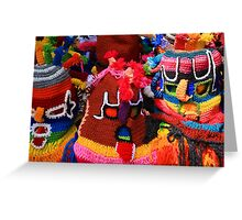 Colorful Knit Masks Greeting Card
