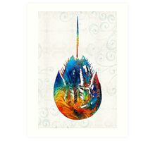Colorful Horseshoe Crab Art by Sharon Cummings Art Print