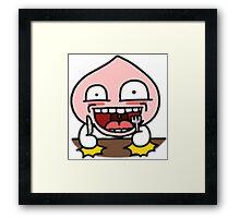 KakaoTalk Friends Apeach (Grub Time ) Framed Print