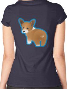 Corgi Puppy Women's Fitted Scoop T-Shirt