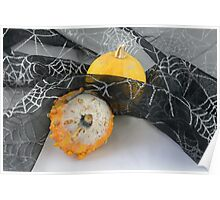 Halloween pumpkin and gourd Poster