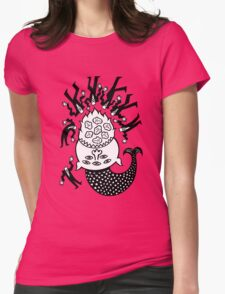 A good day for fish. Womens Fitted T-Shirt