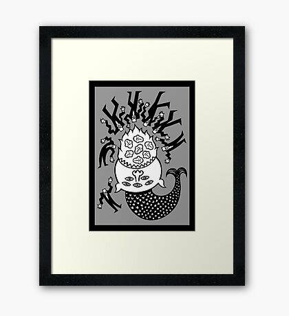 A good day for fish. Framed Print