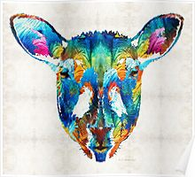 Colorful Sheep Art - Shear Color - By Sharon Cummings Poster