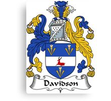 Davidson Coat of Arms/Family Crest Canvas Print