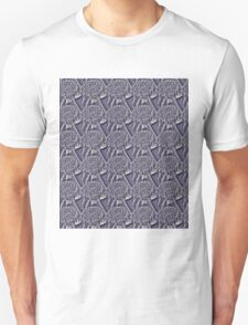 Textured Flower Pattern T-Shirt