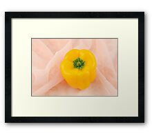 Yellow Bell Pepper Framed Print