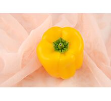 Yellow Bell Pepper Photographic Print