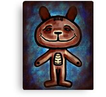 grunge bear Canvas Print