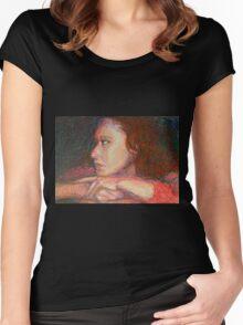 Self Portrait In Profile Women's Fitted Scoop T-Shirt