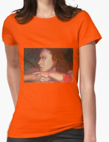 Self Portrait In Profile Womens Fitted T-Shirt