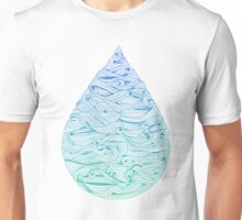 Water Drop – Blue Ombré Unisex T-Shirt