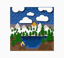 Mountain camping digital  Unisex T-Shirt