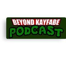 Beyond Kayfabe Podcast - Turtle Power! Canvas Print