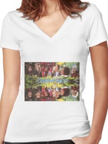 Community - Puppet Show! Women's Fitted V-Neck T-Shirt