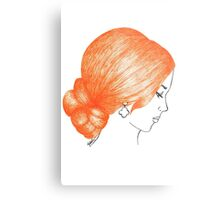 Orange Hair Girl Prom Style Metal Print