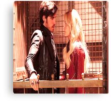 Once Upon A Time Captain Swan Canvas Print