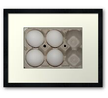 Eggs in carton Framed Print
