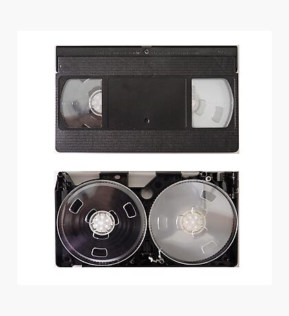 VHS - inside and outside Photographic Print