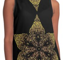 Indian inspired gold star Contrast Tank