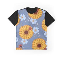 Ladybugs Blue Graphic T-Shirt