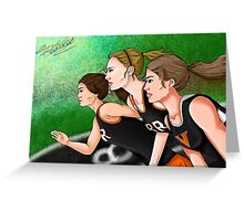 Running, Running, Running Greeting Card